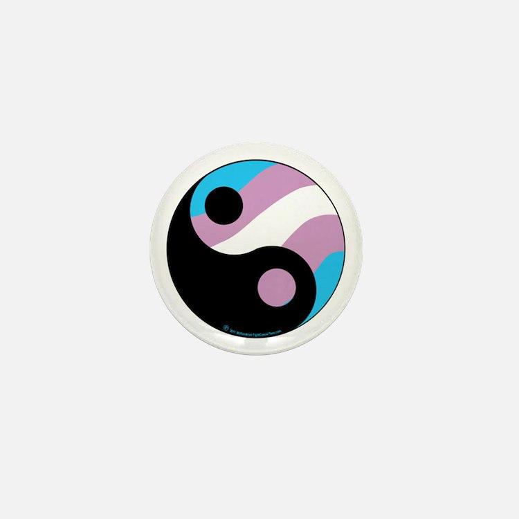 Transgender--Ying-Yang Mini Button