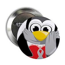 "Grey-Ribbon-Penguin-Scarf 2.25"" Button"