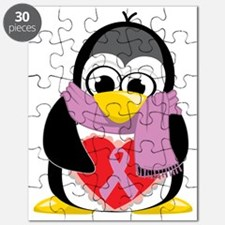 Orchid-Ribbon-Penguin-Scarf Puzzle