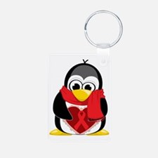 Red-Ribbon-Penguin-Scarf Keychains
