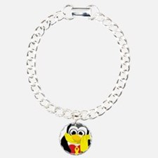 Yellow-Ribbon-Penguin-Sc Bracelet