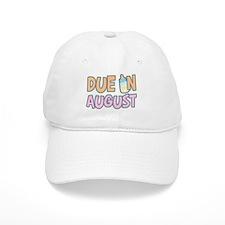 Due In August Girl Baseball Cap