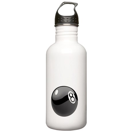8 ball man_white10x10 Stainless Water Bottle 1.0L