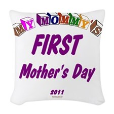 mommys1st2011 Woven Throw Pillow