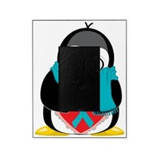 Teal-Ribbon-Penguin-Scarf Picture Frame