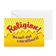 Religion-You Cant Start a War Withou Greeting Card