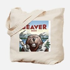 BeaverIllus+TypeColor Tote Bag
