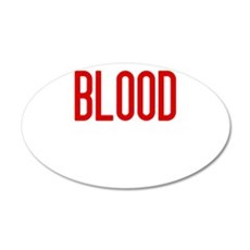 bloodchaoswh 35x21 Oval Wall Decal