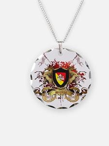 sicilia Necklace Circle Charm
