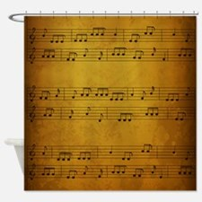 Vintage Sheet Music Shower Curtain
