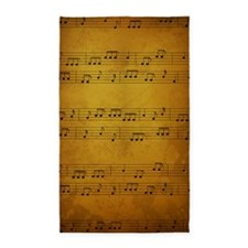 Vintage Sheet Music 3'x5' Area Rug