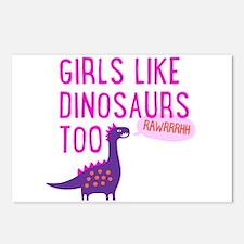 Girls Like Dinosaurs Too RAWRRHH Postcards (Packag