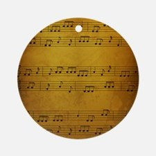 Vintage Sheet Music Round Ornament