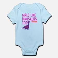 Girls Like Dinosaurs Too RAWRRHH Body Suit