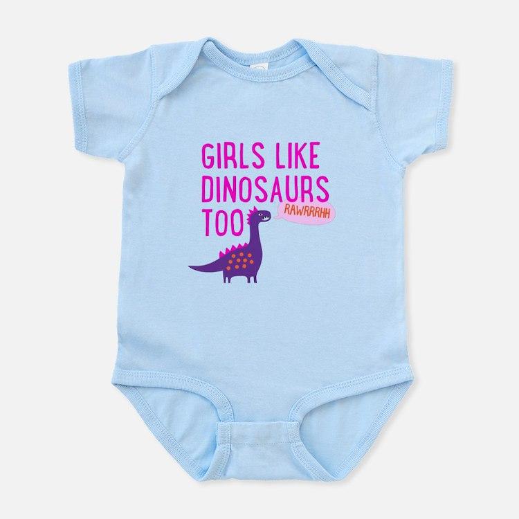 Girls Like Dinosaurs Too RAWRRHH Body Suit