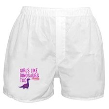 Girls Like Dinosaurs Too RAWRRHH Boxer Shorts