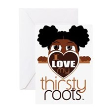 Afro Puffs Greeting Card