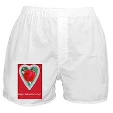 Red Rose Love Romance Valentine Card Boxer Shorts