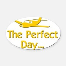pilot airplane flying Oval Car Magnet