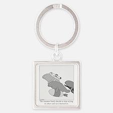 Save the Manatee Square Keychain