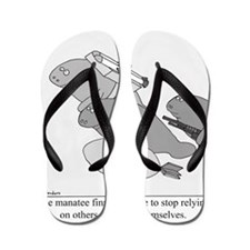 Save the Manatee Flip Flops