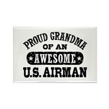 Proud Grandma of an Awesome US Airman Rectangle Ma