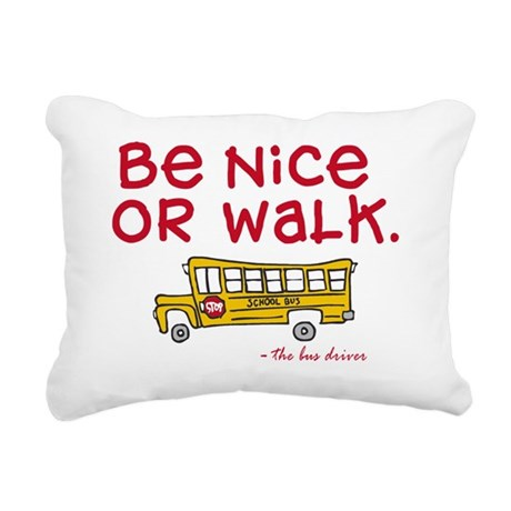 be-nice Rectangular Canvas Pillow