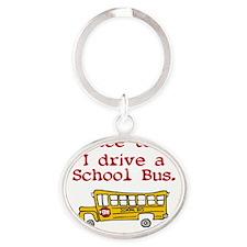 school-bus Oval Keychain