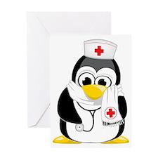 Nurse-Penguin-Scarf Greeting Card