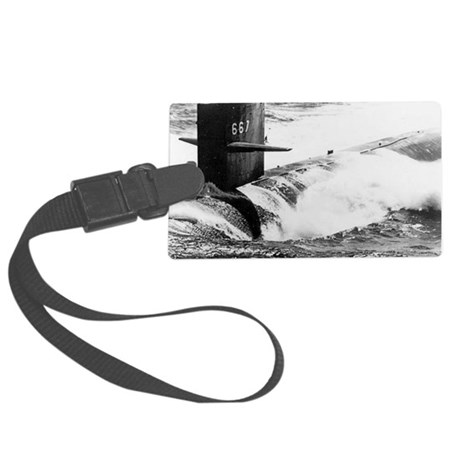 bergall greeting card Large Luggage Tag