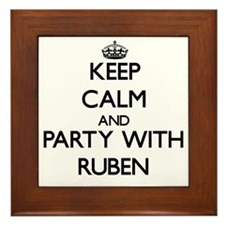 Keep Calm and Party with Ruben Framed Tile