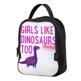 Girls dinosaur Neoprene Lunch Bag