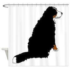 Sitting Bernese Mountain Dog (no-lo Shower Curtain