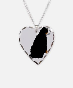 Sitting Bernese Mountain Dog  Necklace