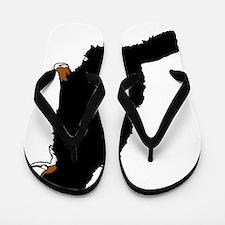 Sitting Bernese Mountain Dog (no-logo)0 Flip Flops