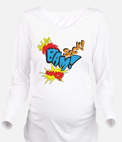 Baby Super Hero Long Sleeve Maternity T-Shirt