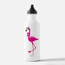 Cool Pink Flamingo Water Bottle