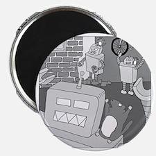Robots and Gerbils - no text Magnet