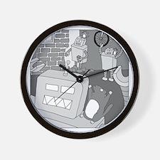 Robots and Gerbils - no text Wall Clock