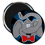 Cute Elephant Cartoon Magnet