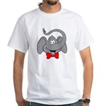 Cute Elephant Cartoon White T-Shirt