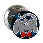 Cute Elephant Cartoon Button