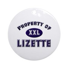 Property of lizette Ornament (Round)