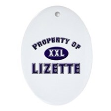 Property of lizette Oval Ornament