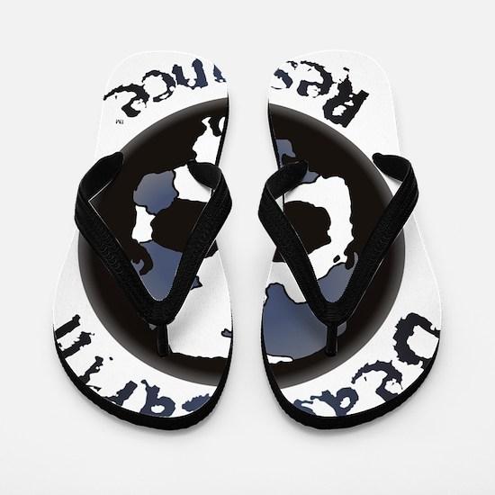 Skull_Lavendar Flip Flops