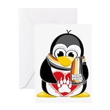 Bear-Pride-Penguin-Scarf Greeting Card