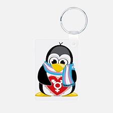 Transgender-Penguin-Scarf Keychains