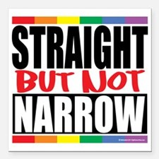 "Straingt-But-Not-Narrow Square Car Magnet 3"" x 3"""