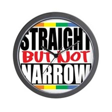 Straingt-But-Not-Narrow Wall Clock