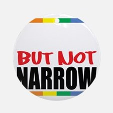 Straingt-But-Not-Narrow-blk Round Ornament